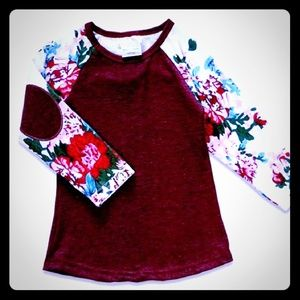 Other - Floral tee 3t